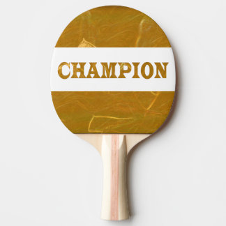 CHAMPION Red Rubber Back Golden Lotus Etched Foil Ping Pong Paddle