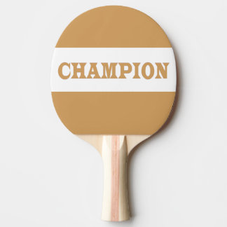CHAMPION Red Rubber Back Pin Pong Paddle