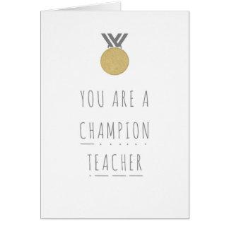 Champion Teacher Phonics Greeting Card