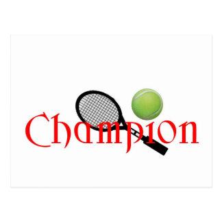 CHAMPION TENNINS PLAYER POST CARD