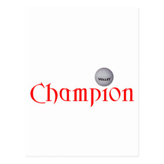 CHAMPION VOLLEYBALL POSTCARD