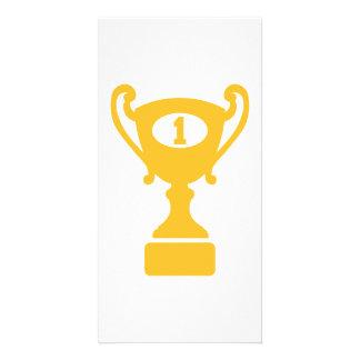 Champion winner trophy photo greeting card
