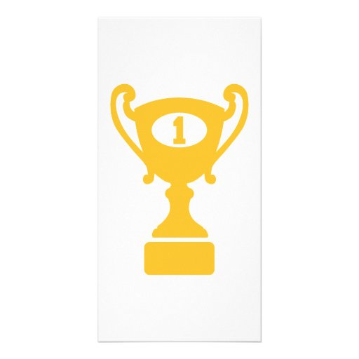 Champion winner trophy photo greeting card