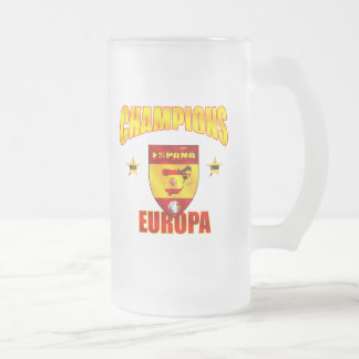 Champions Europa Spain gear for España fans Frosted Glass Mug
