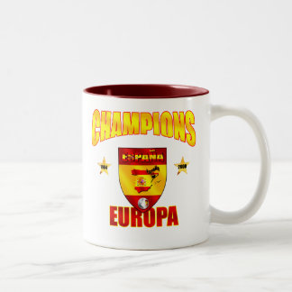 Champions Europa Spain gear for España fans Two-Tone Mug