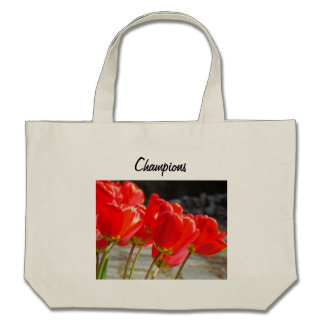 Champions Tote Bags Red Tulip Flowers Totes