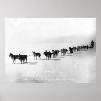 CHAMPIONSHIP DOG RACING TEAM ALASKA 1914 POSTER