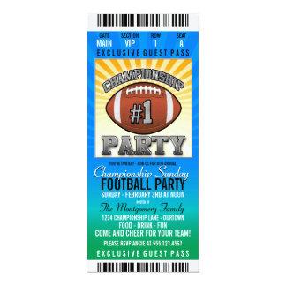 Championship Sunday Football Party 10 Cm X 24 Cm Invitation Card