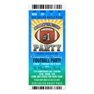 Championship Sunday Football Party Card