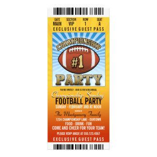 Championship Sunday Football Party Custom Invites