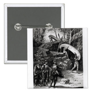 Champlain Exploring the Canadian Wilderness 15 Cm Square Badge