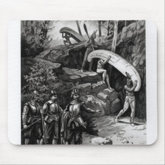 Champlain Exploring the Canadian Wilderness Mouse Mat