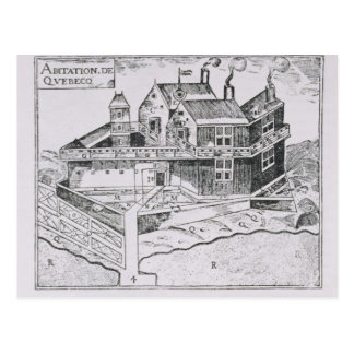 Champlain's View of Quebec Postcard