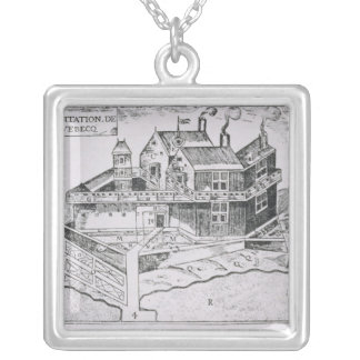 Champlain's View of Quebec Silver Plated Necklace