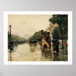 Champs Elysees, Hassam Premium Poster