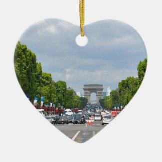 Champs-Élysées, Paris Ceramic Heart Decoration