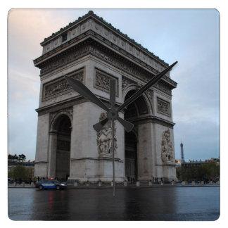Champs-Élysées - Paris, France Square Wall Clock