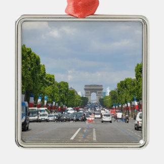 Champs-Élysées, Paris Silver-Colored Square Decoration
