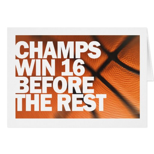 CHAMPS WIN 16 BEFORE THE REST CARD