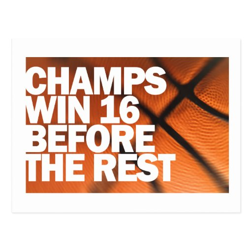 CHAMPS WIN 16 BEFORE THE REST POST CARDS