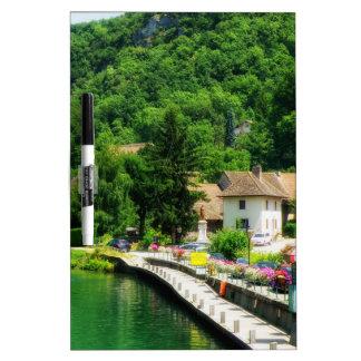 Chanaz France village  river Dry-Erase Boards