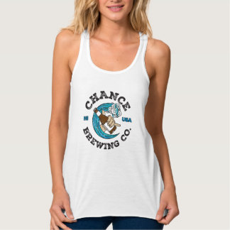 Chance Brewing Co Hawaiian Premium Beer Logo Tank Top