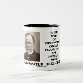 Chance Favors Only The Prepared Mind Pasteur Two-Tone Coffee Mug