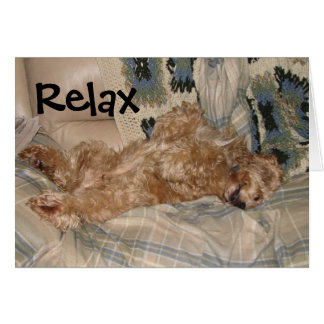 Chance Relax Greeting Card
