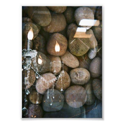 Chandelier and stones photographic print