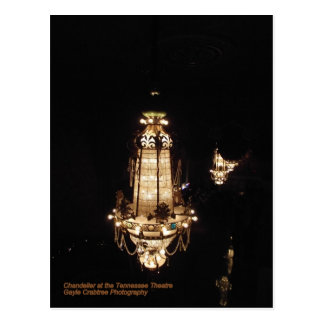Chandelier at the Tennessee Theatre Postcard