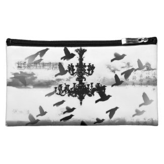 Chandelier - Birds of a Feather Cosmetic Makeup Bags