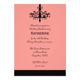 Chandelier Birthday Invitation