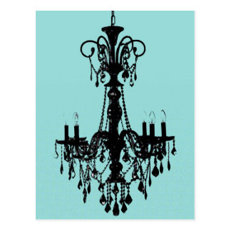 Chandelier Blue Postcard