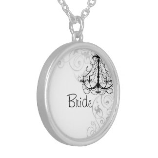 Chandelier Bride Round Pendant Necklace