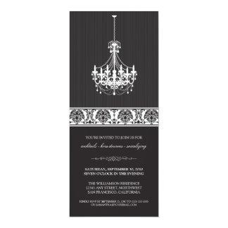 Chandelier Cocktail Party Invite (black/white)