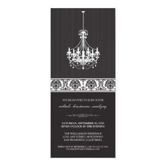 Chandelier Cocktail Party Invite (black/white)