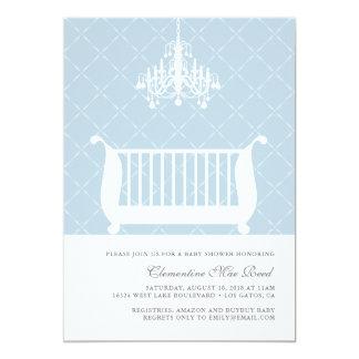 Chandelier Crib Baby Boy Shower Invitation