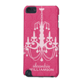Chandelier Damask iPod Touch Case (fuchsia)