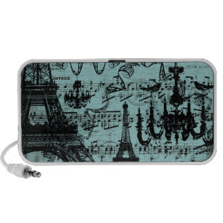Chandelier Eiffel Tower on any color Love Birds Mp3 Speakers