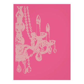 Chandelier Glamour ~ CHANGE COLOR XLARGE 40X53 Poster
