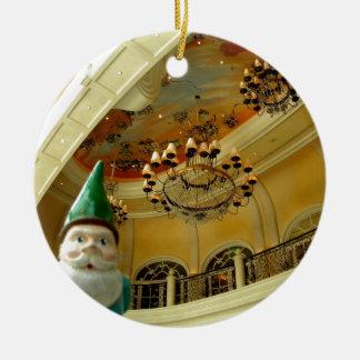 Chandelier Gnome Round Ceramic Decoration