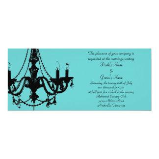 Chandelier Love - Personalise the colour! 10 Cm X 24 Cm Invitation Card