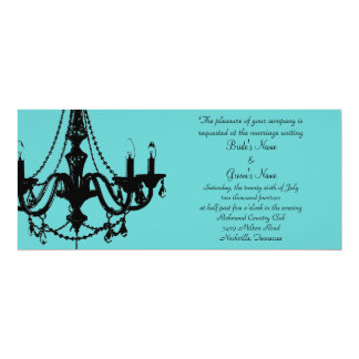 Chandelier Love - Personalize the color! 10 Cm X 24 Cm Invitation Card