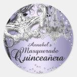 Chandelier Masquerade Purple Quinceanera Sticker