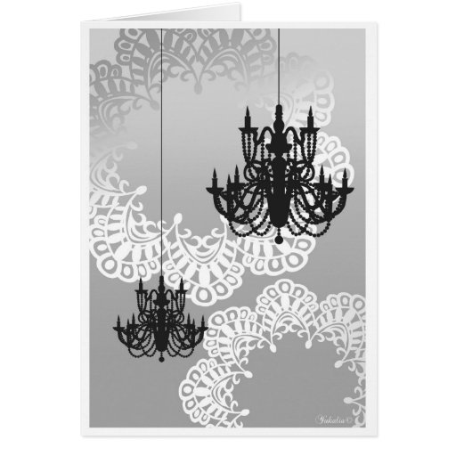 Chandelier Note Card_Mono Stationery Note Card
