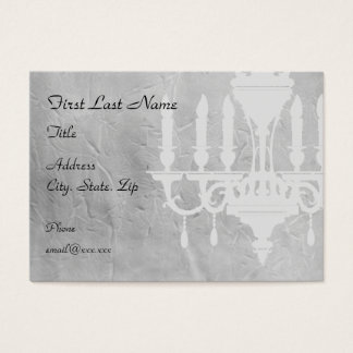 Chandelier on creased Gray Paper Business Card