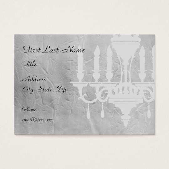 Chandelier on creased Grey Paper Business Card