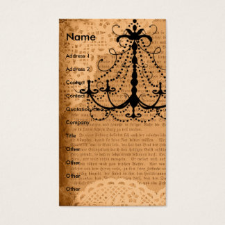 Chandelier on Sepia Mixed Media Business Card