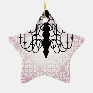chandelier/pink ceramic star decoration