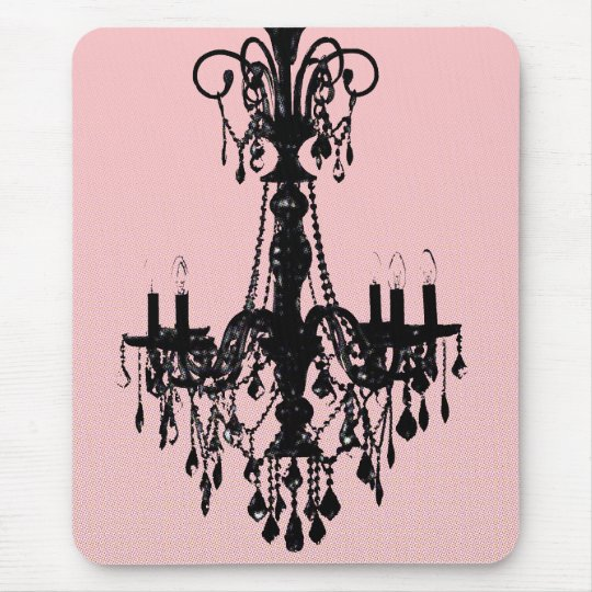 Chandelier & Pink Mouse Mat